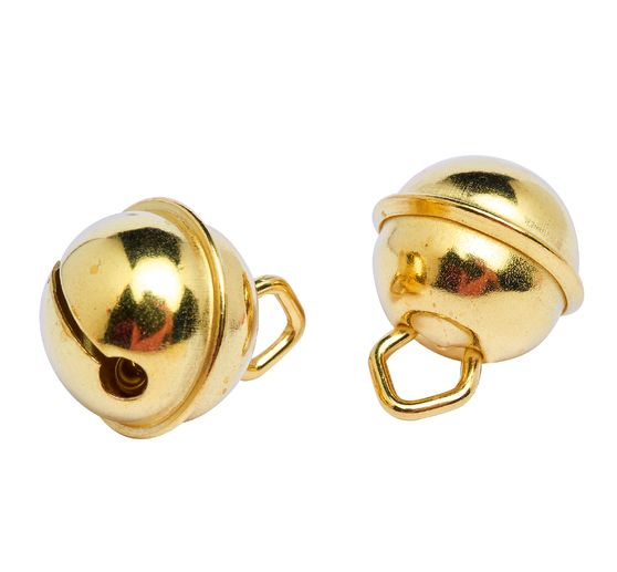 Jingles, 15 mm, gold-coloured, 10 pieces