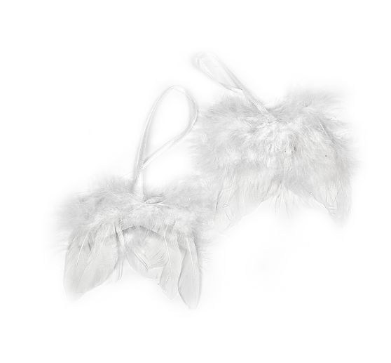 VBS Angel wings, white, 8cm, 2 pieces