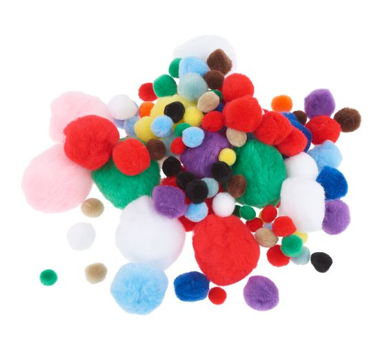 Pompon set, 100 pieces