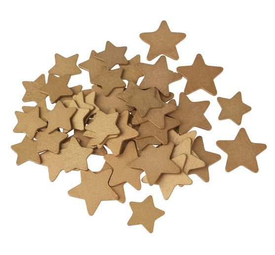 "VBS wood scatter decoration ""gold star"""