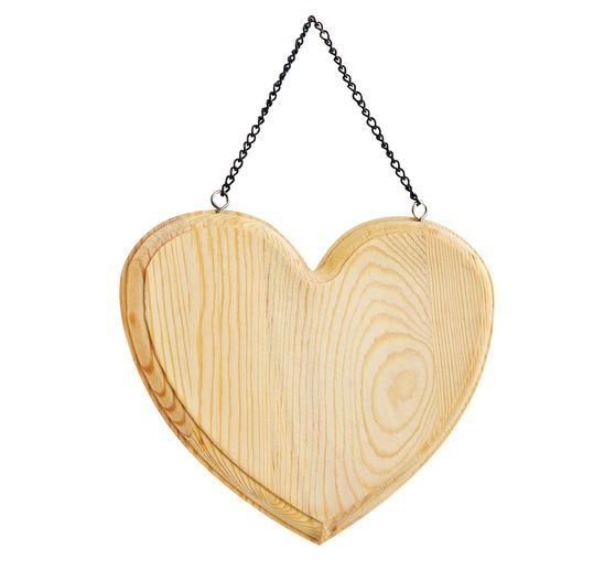 "VBS Decorative sign ""Heart"", wood"