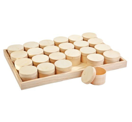VBS Tray + 24 round chip boxes