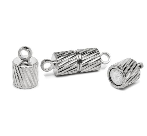 "Magnetic closure, ""Bow"" silver"