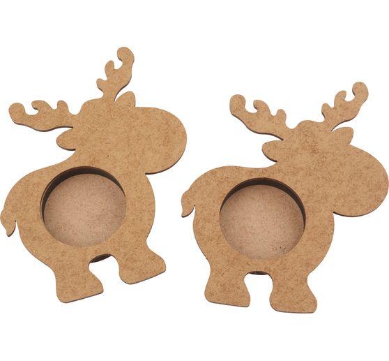 "Tealight holders ""Moose"""