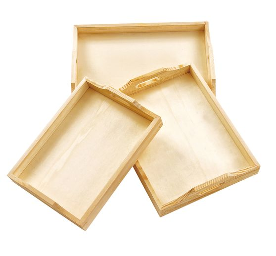 VBS Wooden tray, set of 3