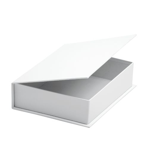 VBS Hinged lid box made of white cardboard