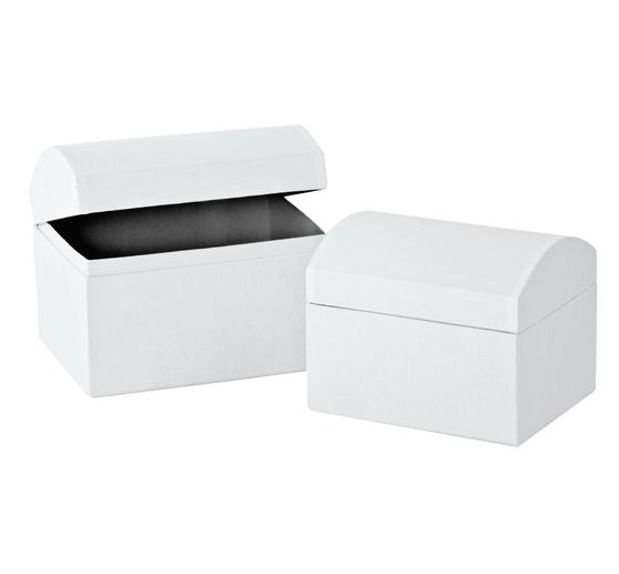 VBS Chests, set of 2, made of white cardboard